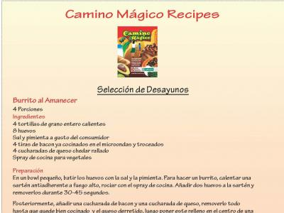 Camino Magico Recipes
