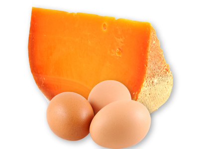 Gouda Cheese and Three eggs