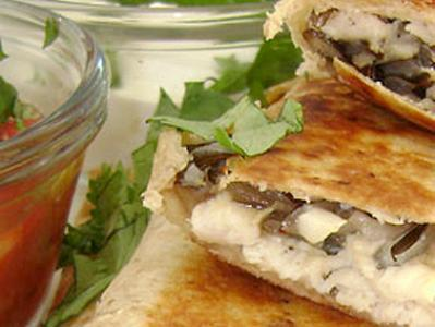 Chicken Wild Rice Quesadillas