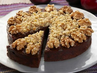 Chocolate Plum Walnut Torte