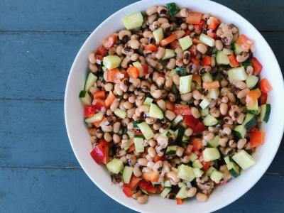 cold black eyed pea salad
