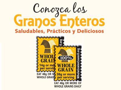 Conozca los Granos Enteros (English Stamps)