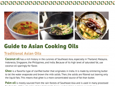 Cooking Oil Asian Heritage Diet