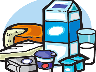 Dairy Foods Illustration