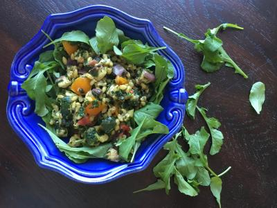 Eggplant Barley Salad