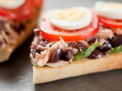 Mediterranean Tuna Sandwich
