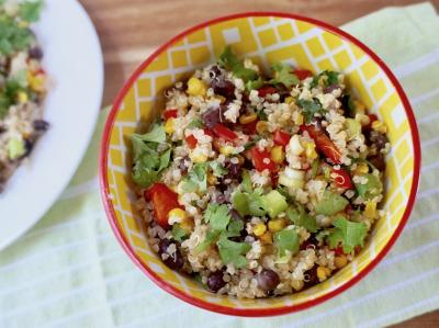 Quinoa Salad with Corn, Black Beans, and Peppers