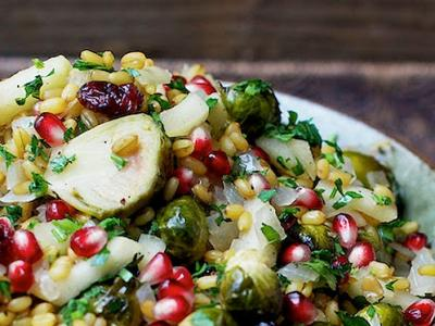 Freekeh Brussels Sprouts