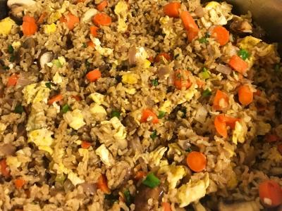 Sprouted Fried Brown Rice