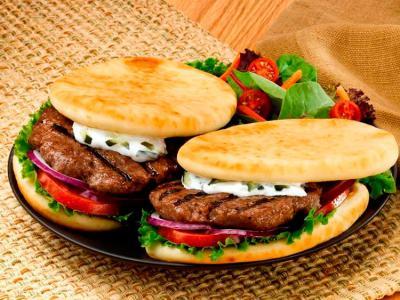 Grilled Lamb Gyro Burger