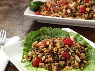 Gingered Farro Wild Rice Salad