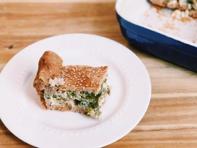 Greek Greens and Feta Pie