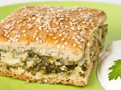 Greens Onion Feta Pie