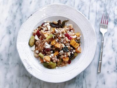Farro salad with fall vegetables