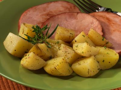 Lemon Oregano Roasted Potatoes