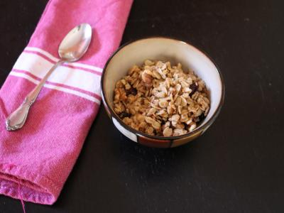 Maple walnut cranberry granola