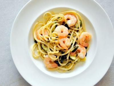 Bucatini with Shrimp