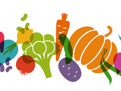 Colorful illustration of vegetables