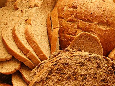 Array of whole grain breads