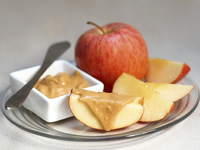 Apple and Peanut Butter Snack