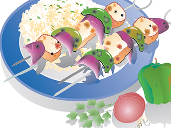 Med Diet plate illustration