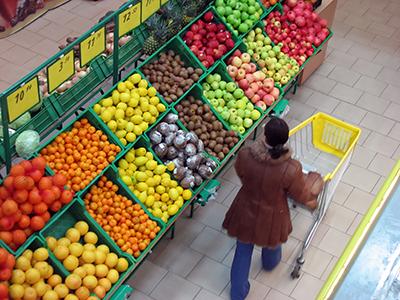 Shopper in Grocery Store