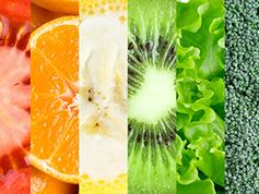 Spectrum of fruits and vegetables