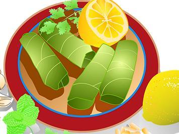 Stuffed Grape Leaves Illustration