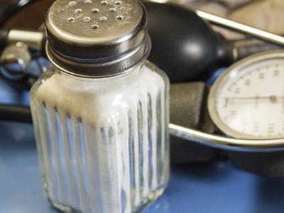 Salt shaker and blood pressure monitor