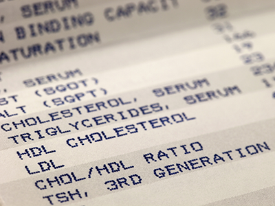 Cholesterol readout