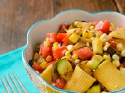 Rigatoni in a bowl