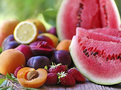 Watermelon, peaches, citrus, berries