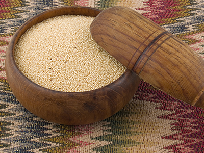 Amaranth in wooden bowl