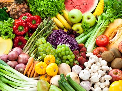 Store display of vegetables