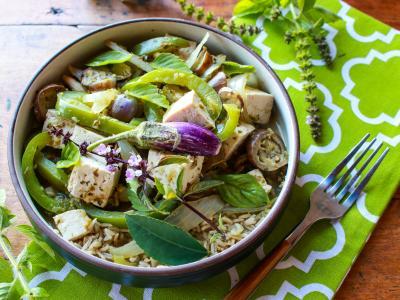 thai eggplant tofu green curry
