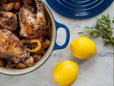 One Pot chicken with Olives