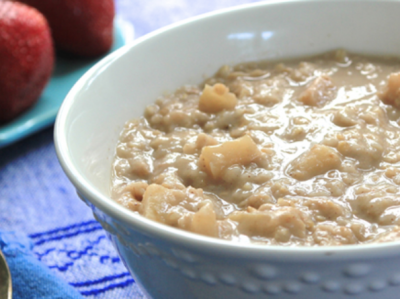 Apple Peanut Butter Oatmeal