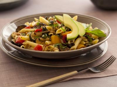 Pasta w-Oven Roasted Vegetables & Avocado_CAC