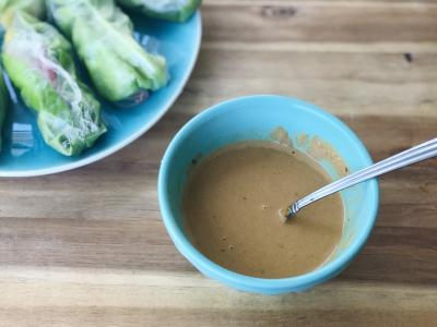 bowl of peanut sauce