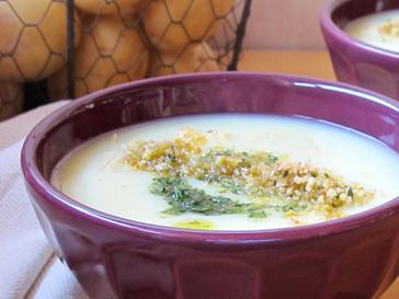 Creamy Potato Soup with Migas
