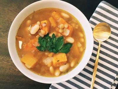Lentils and Butternut Squash Soup