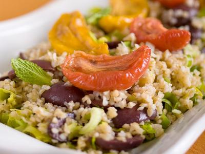 Roasted Tomato Bulgur Salad