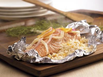 Salmon Rice Packets