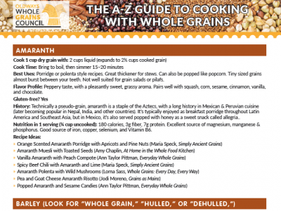 The A-Z Guide to Cooking with Whole Grains