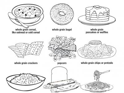 whole grain coloring sheet