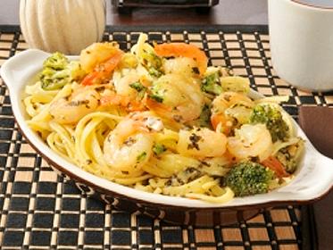 Shrimp Broccoli Linguine