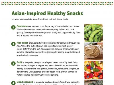 Snacks Asian Heritage Diet Handout