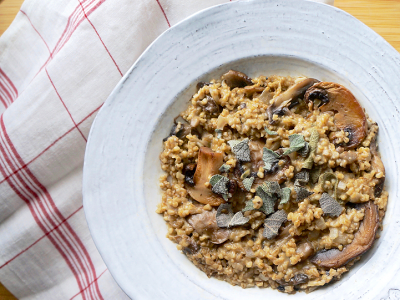 Steel Cut Oat Risotto