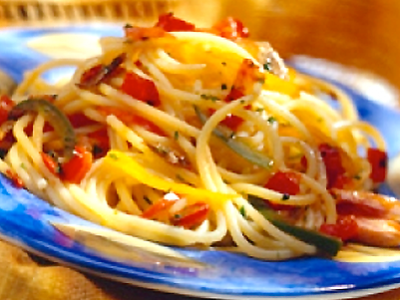 Farfalle with Zucchini, Butternut Squash & Pecorino Cheese | Oldways
