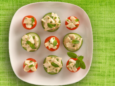 Tomato Cucumber Rounds